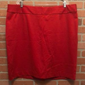 Lane Bryant red plus size skirt size 24 (3I50)